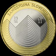 SLOVENIA 3 EURO 2011 - SAMOSTOJNA SLOVENIJA PROOF