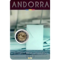 ANDORRA 2 EURO 2015 - 30 YEARS SINCE 18 BECAME LEGAL AGE