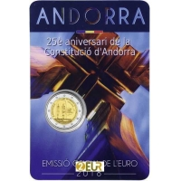 ANDORRA 2 EURO 2018 - 25TH ANNIVERSARY OF THE CONSTITUTION OF ANDORRA