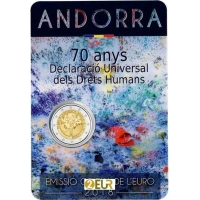 ANDORRA 2 EURO 2018 - 70TH ANNIVERSARY OF THE UNIVERSAL DECLARATION OF HUMAN RIGHTS