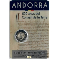 ANDORRA 2 EURO 2019/2 - 600TH ANNIVERSARY OF THE COUNCIL OF THE EARTH
