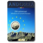 ANDORRA 2 EURO COIN CARD