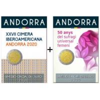 ANDORRA 2 EURO 2020 - XXVII IBERO - AMERICAN SUMMIT + WOMEN'S UNIVERSAL SUFFRAGE