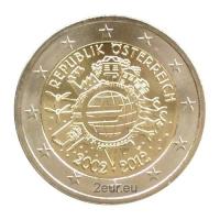 AUSTRIA 2 EURO 2012 - 10 YEARS OF EURO