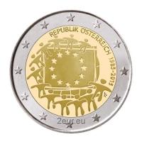 AUSTRIA 2 EURO 2015 - 30 YEARS OF THE EU FLAG