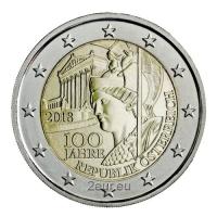 AUSTRIA 2 EURO 2018 - 100 YEARS TO THE REPUBLIC OF AUSTRIA