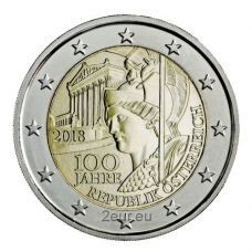 AUSTRIA 2 EURO 2018 - 100 YEARS TO THE REPUBLIC OF AUSTRIA