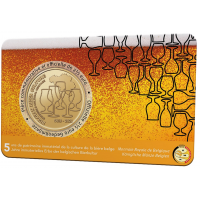 BELGIUM 2.5 EURO 2021 - 5 YEARS OF BELGIAN BEER CULTURE INTANGIBLE HERITAGE  - FR