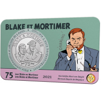 BELGIUM 5 EURO 2021 - 75 YEARS OF BLAKE AND MORTIMER