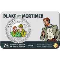 BELGIUM 5 EURO 2021 - 75 YEARS OF BLAKE AND MORTIMER - COLOR