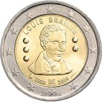 BELGIUM 2 EURO 2009 - LOUIS BRAILLE