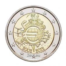 BELGIUM 2 EURO 2012 - 10 YEARS OF EURO