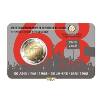 BELGIUM 2 EURO 2018 - 50TH ANNIVERSARY OF MAY 1968 - FR