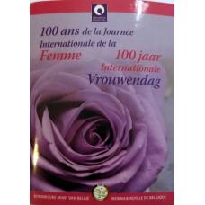 BELGIUM 2 EURO 2011 - INTERNATIONAL WOMAN'S DAY( COIN CARD)