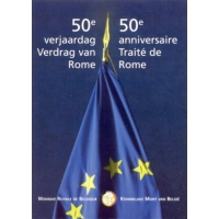 BELGIUM 2 EURO 2007 - TREATY OF ROME -COIN CARD