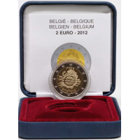 BELGIUM 2 EURO 2012 - 10 YEARS OF EURO - PROOF