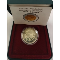 BELGIUM 2 EURO 2007 - TREATY OF ROME - PROOF