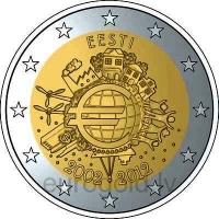 ESTONIA 2 EURO 2012 - TEN YEARS OF EURO