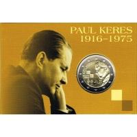 ESTONIA 2 EURO 2016 - 100 YEARS SINCE THE BIRTH OF PAUL KERES - C/C