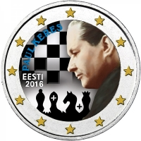 ESTONIA 2 EURO 2016 - 100 YEARS SINCE THE BIRTH OF PAUL KERES - color