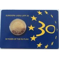 ESTONIA 2 EURO 2015 - 30 YEARS OF THE EU FLAG (COIN CARD)