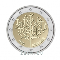 ESTONIA 2 EURO 2020 - 100TH ANNIVERSARY OF THE TARTU PEACE TREATY BETWEEN THE RSFSR AND ESTONIA