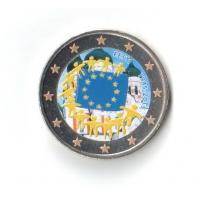 ESTONIA 2 EURO 2015 - 30 YEARS OF THE EU FLAG -COLOR