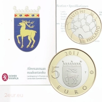 FINLAND 5 EURO 2011 - HISTORICAL PROVINCES - ALAND - PROOF