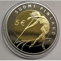 FINLAND 5 EURO 2005 -  ATHLETICS WORLD CHAMPIONSHIPS IN HELSINKI - PROOF