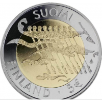 FINLAND 5 EURO 2007 - 90 YEARS NDEPENDENCE - PROOF