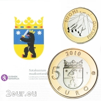 FINLAND 5 EURO 2010 - HISTORICAL PROVINCES - SATAKUNTA - PROOF