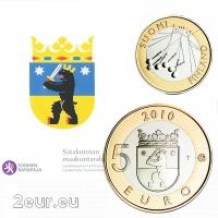 FINLAND 5 EURO 2010 - HISTORICAL PROVINCES - SATAKUNTA - PROOF