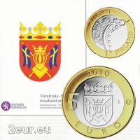 FINLAND 5 EURO 2010 - HISTORICAL PROVINCES - VARSINAIS SUOMI - PROOF