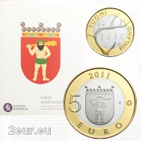 FINLAND 5 EURO 2011 - HISTORICAL PROVINCES - LAPLAND - PROOF