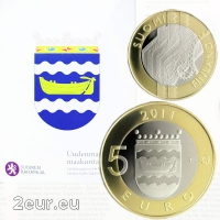 FINLAND 5 EURO 2011 - HISTORICAL PROVINCES - UUSIMAA - PROOF