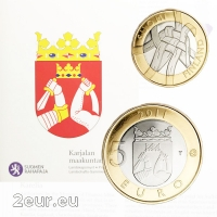 FINLAND 5 EURO 2011 - HISTORICAL PROVINCES -KARELIA - PROOF
