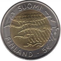 FINLAND 5 EURO 2007 - 90 YEARS INDEPENDENCE