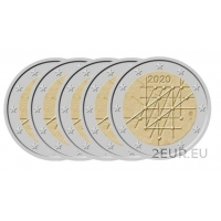FINLAND 2 EURO 2020 - 100TH ANNIVERSARY OF THE TURKU UNIVERSITY (5х5.5 euro)