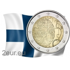 FINLAND 2 EURO 2010 - 150TH ANNIVERSARY OF FINNISH CURRENCY
