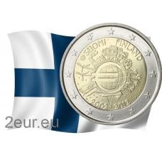 FINLAND 2 EURO 2012 - 10 YEARS OF EURO