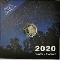 FINLAND 2 EURO 2020 - 100TH ANNIVERSARY OF THE BIRTH OF VÄINÖ LINNA - PROOF