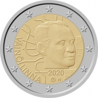 FINLAND 2 EURO 2020 - 100TH ANNIVERSARY OF THE BIRTH OF VÄINÖ LINNA