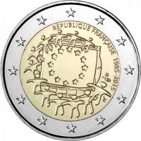 FRANCE 2 EURO 2015 - 30 YEARS OF THE EU FLAG