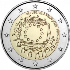 FRANCE 2 EURO 2015 - 30 YEARS OF THE EU FLAG