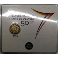 FRANCE 2 EURO 2013 - 50 YEARS OF THE ÉLYSÉE TREATY - COIN CARD
