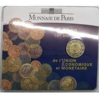 FRANCE 2 EURO 2009 - EMU - COIN CARD