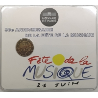 FRANCE 2 EURO 2011 - 30TH ANNIVERSARY OF INTERNATIONAL MUSIC DAY - COIN CARD