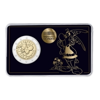 FRANCE 2 EURO 2019 -60 YEARS ASTERIX. ASTERIX WITH IDÉFIX, THEY BOTH ARE INTEGRATED WITH A COIN!