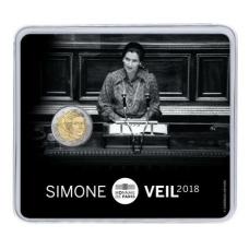 FRANCE 2 EURO 2018 - SIMONE VEIL (COIN CARD)