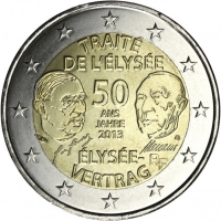 FRANCE 2 EURO 2013 - 50 YEARS OF THE ÉLYSÉE TREATY
